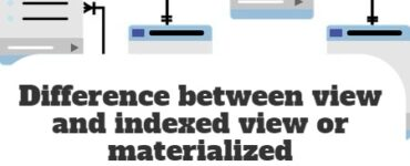 Difference between view and indexed view or materialized