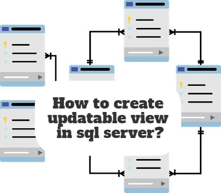 How to create updatable view in sql server