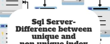 Sql Server- Difference between unique and non unique index