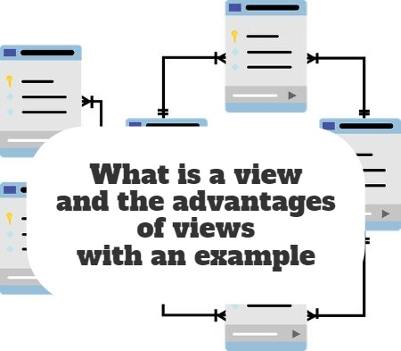 What is a view and the advantages of views with an example