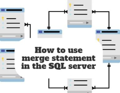 How to use merge statement in the SQL server