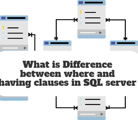 What is Difference between where and having clauses in SQL server